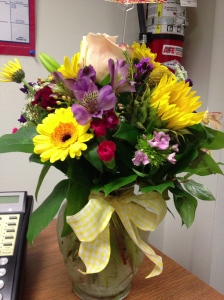 The hubbins sent me flowers at work!