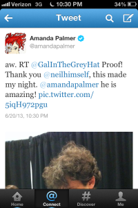 I tweeted a picture to Amanda Palmer...she responded!