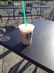 My iced chai latte, with the largest straw ever!