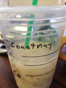Tell me...does that look like it spells Courtney to you?
