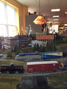 A working train set! Even I stopped to look - it was cool!