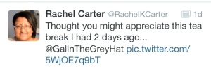 You should also follow her on Twitter - RachelKCarter and iHeartTeas