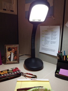 My new #happy light was delivered to work today too - three days early.