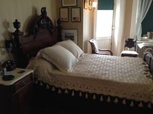 This was FDR's bedroom at Springwood after he became President. Note he didn't share it with his wife.